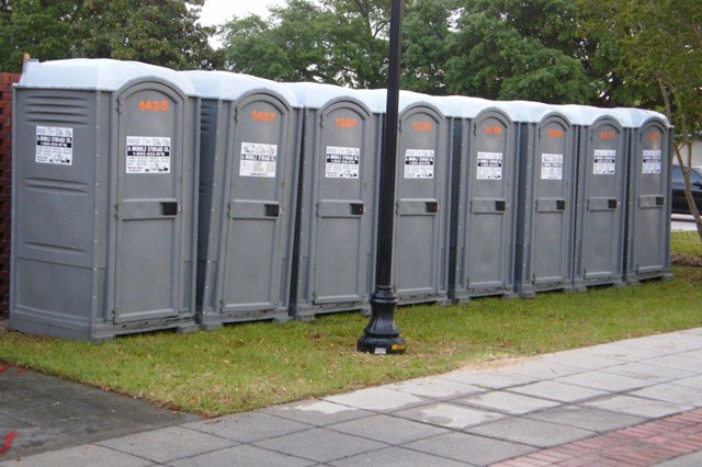 Toilets For Rent : Portable toilet rentals a mobile storage co